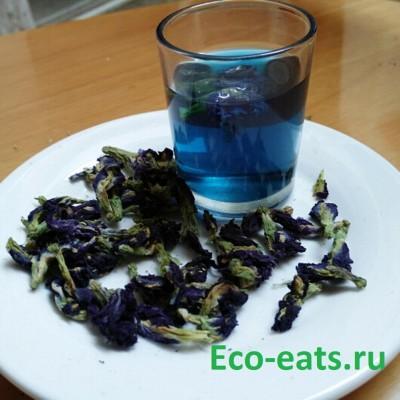 Синий чай Анчан - фото, изображение