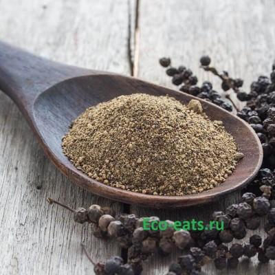 Черный душистый перец молотый - фото, изображение